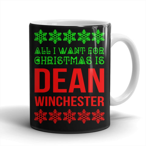 All I Want For Christmas Is Dean Winchester - Mug - Mugs - Supernatural-Sickness