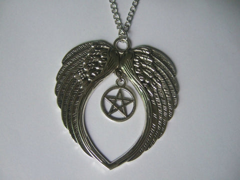Large Angel Wing Necklace (Free Shipping) - Necklace - Supernatural-Sickness - 1