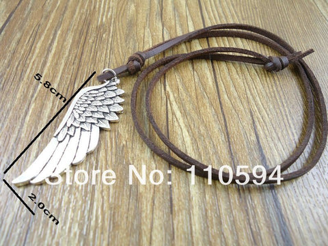Angel Wing Leather Necklace (Free Shipping) - Necklace - Supernatural-Sickness - 1
