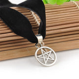 Black Velvet Pentagram Necklace (Free Shipping) - Necklace - Supernatural-Sickness - 3