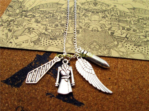 Castiel Charms Necklace - Necklace - Supernatural-Sickness