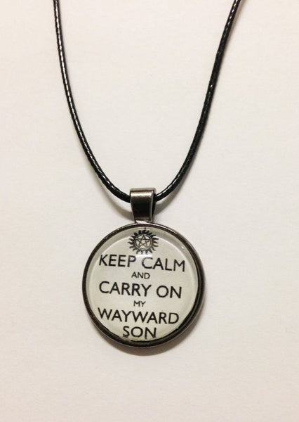 """Keep Calm And Carry On My Wayward Son"" Necklace - Necklace - Supernatural-Sickness - 2"