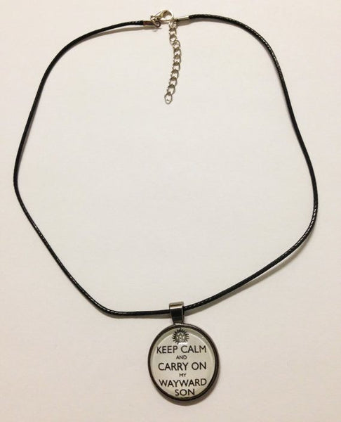 """Keep Calm And Carry On My Wayward Son"" Necklace - Necklace - Supernatural-Sickness - 3"