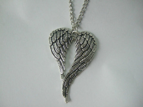 Silver Angel Wing Necklace (Free Shipping) - Necklace - Supernatural-Sickness - 1