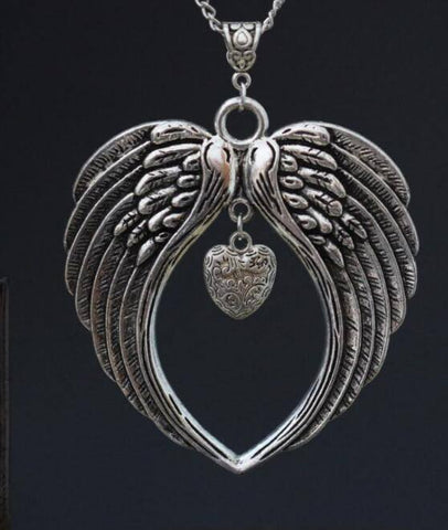 Silver Angel Wings Necklace (Free Shipping) - Necklace - Supernatural-Sickness