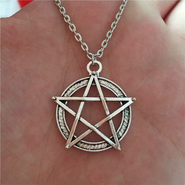 Silver/Bronze Pentagram Necklace (Free Shipping) - Necklace - Supernatural-Sickness - 3