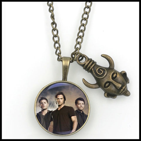 Supernatural Dean Sam Cas Pendant Amulet Necklace (Free Shipping) - Necklace - Supernatural-Sickness