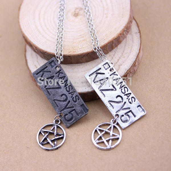 Supernatural Dean Winchester Car License Plate Necklace - Necklace - Supernatural-Sickness - 2