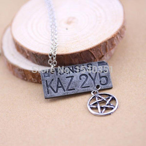 Supernatural Dean Winchester Car License Plate Necklace - Necklace - Supernatural-Sickness - 3