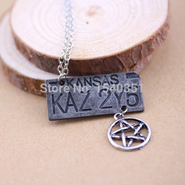 Supernatural Dean Winchester Car License Plate Necklace - Necklace - Supernatural-Sickness - 6