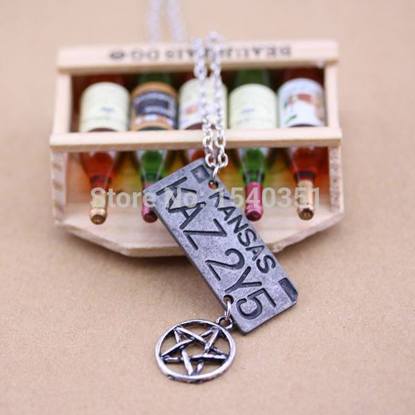 Supernatural Dean Winchester Car License Plate Necklace - Necklace - Supernatural-Sickness - 7