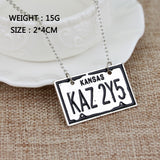 Supernatural KAZ 2YZ License Plate Necklace (Free Shipping) - Necklace - Supernatural-Sickness - 2