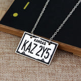 Supernatural KAZ 2YZ License Plate Necklace (Free Shipping) - Necklace - Supernatural-Sickness - 3