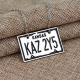 Supernatural KAZ 2YZ License Plate Necklace (Free Shipping) - Necklace - Supernatural-Sickness - 4