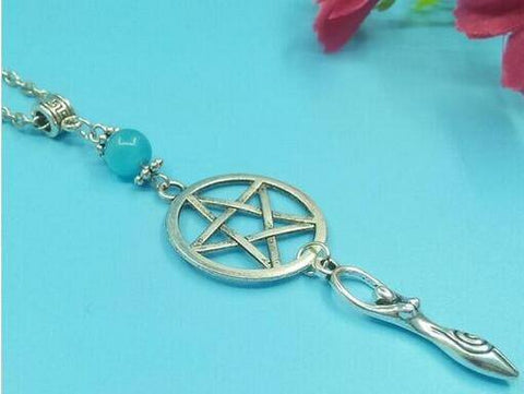 Supernatural Silver Pentagram Charm Necklace (Free Shipping) - Necklace - Supernatural-Sickness