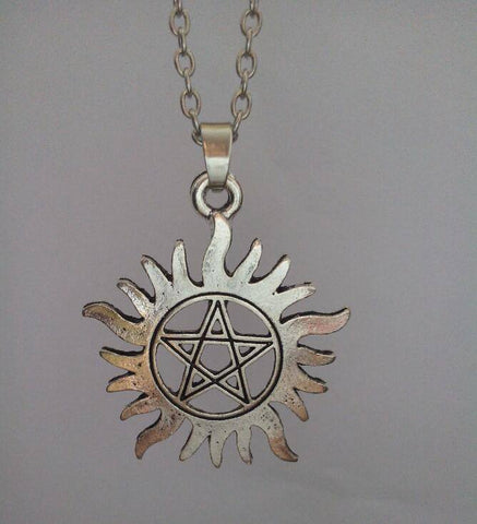 Anti Possession Silver Pendant Necklace (Free Shipping) - Pendant - Supernatural-Sickness