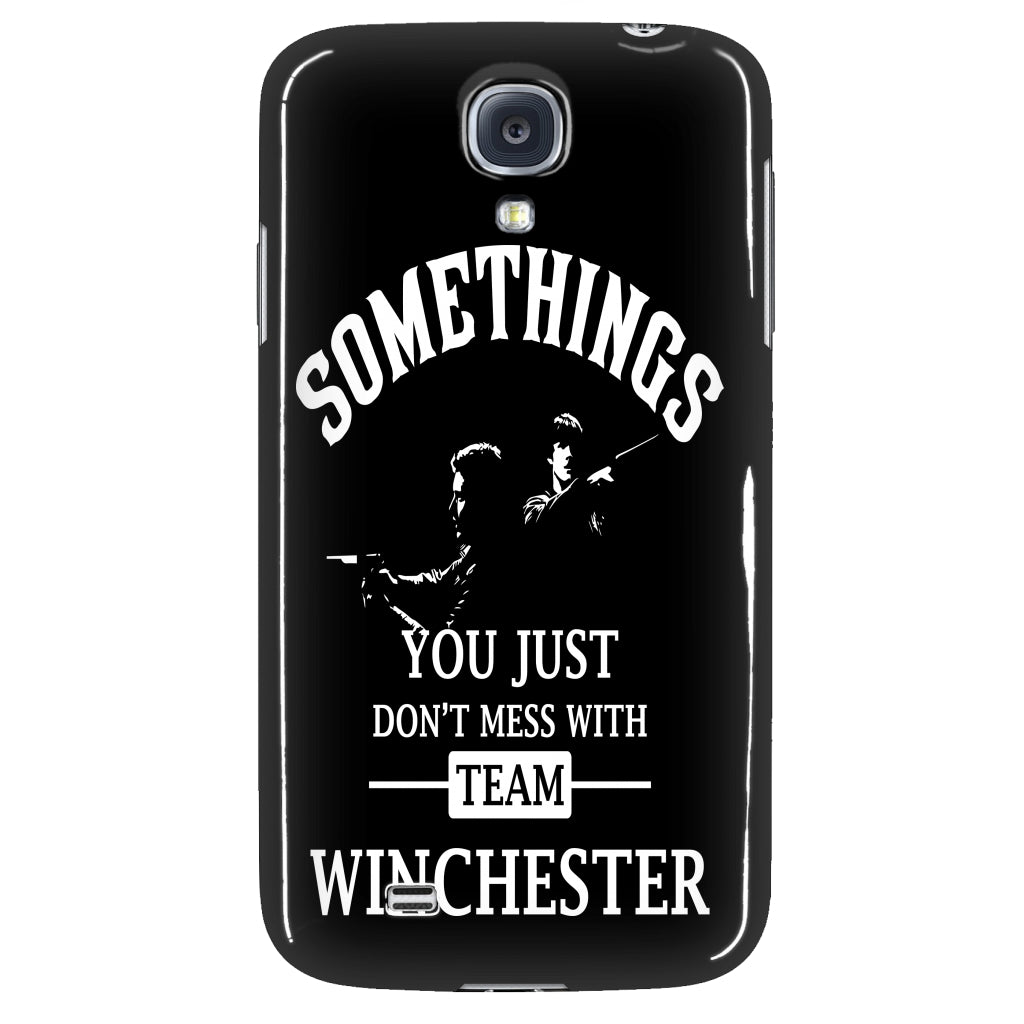 dont mess with team winchester phone cover supernatural sickness. Black Bedroom Furniture Sets. Home Design Ideas