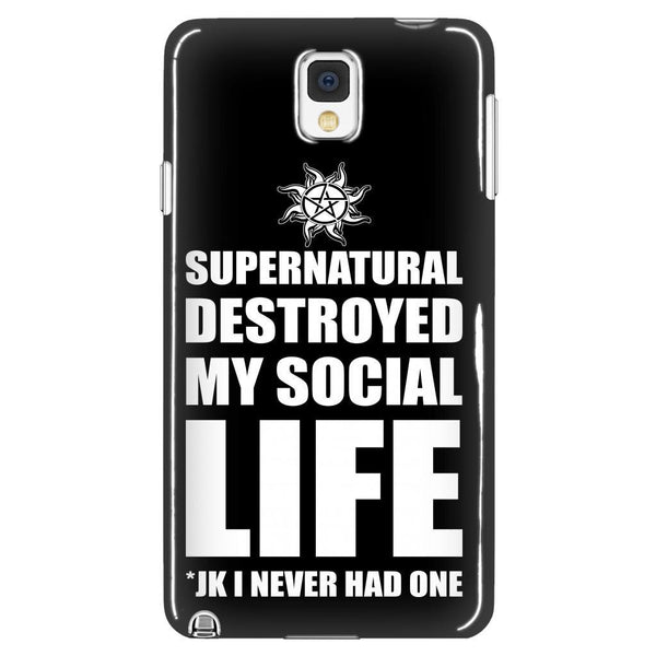 Supernatural Destroyed My Social Life - Phonecover - Phone Cases - Supernatural-Sickness - 1