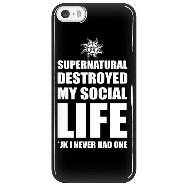 Supernatural Destroyed My Social Life - Phonecover - Phone Cases - Supernatural-Sickness - 5