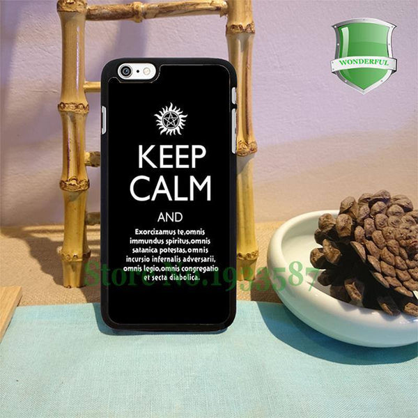 Supernatural Keep Calm Iphone Covers - Phone Cover - Supernatural-Sickness - 1