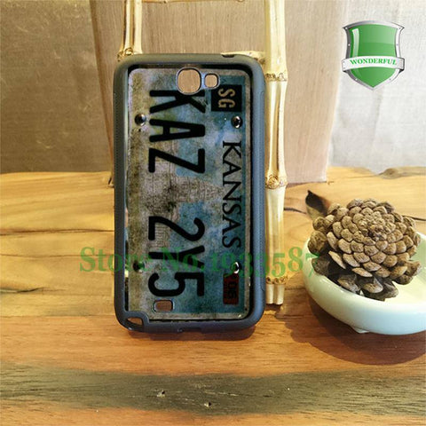 Supernatural License Plate Samsung Phone Covers - Phone Cover - Supernatural-Sickness