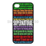 Supernatural Quotes Iphone Cover - Phone Cover - Supernatural-Sickness - 1