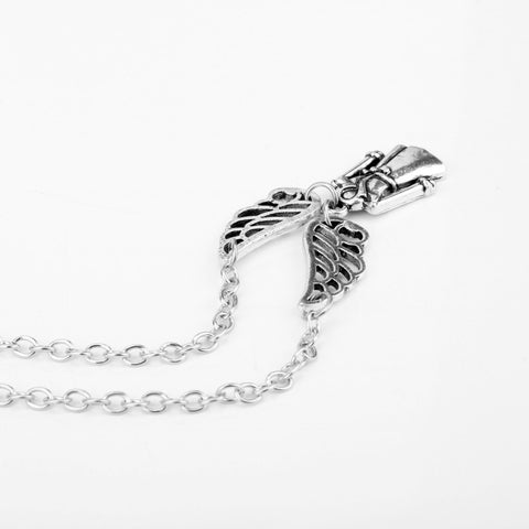 Supernatural Castiel Angel Wings Pendant Necklace