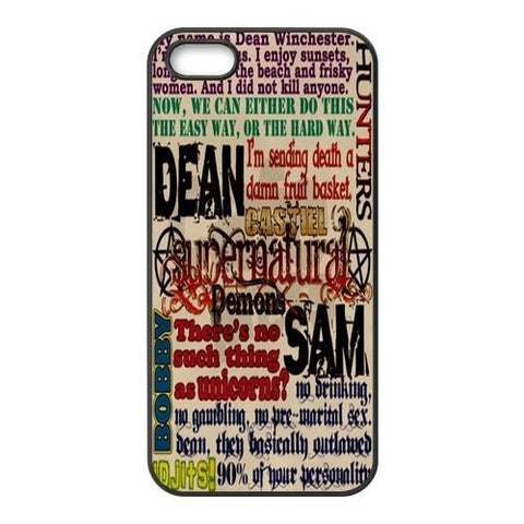 Funny Supernatural Quotes -  Phone Cover Case for iPhone 4/4s/5/5s/5c/6/6plus Cases (Free Shipping) - Phone Cover - Supernatural-Sickness