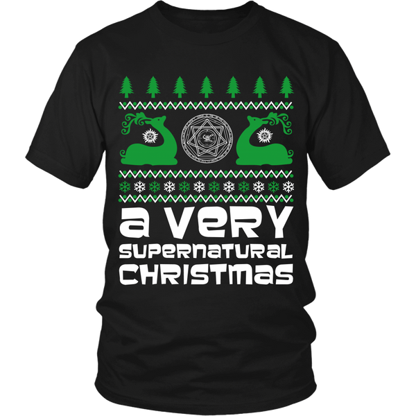 BGA Supernatural UGLY Christmas Sweater - T-shirt - Supernatural-Sickness - 7