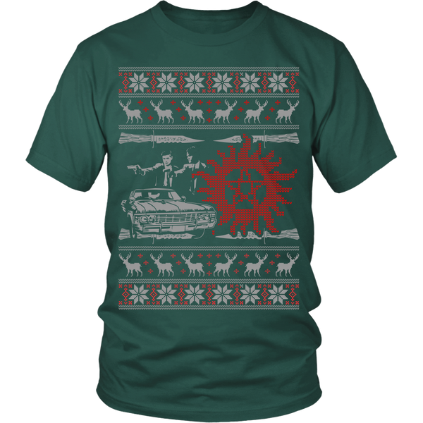 Supernatural UGLY Christmas Sweater - T-shirt - Supernatural-Sickness - 10
