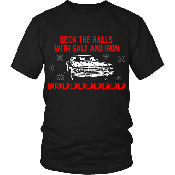Deck The Halls With Salt and Iron - T-shirt - Supernatural-Sickness - 1