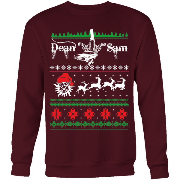 Supernatural UGLY Christmas Sweater - T-shirt - Supernatural-Sickness - 5