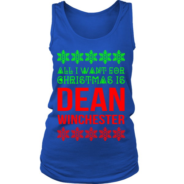 All I Want For Christmas Is Dean Winchester - Tank Top - T-shirt - Supernatural-Sickness - 2