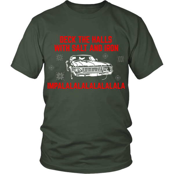 Deck The Halls With Salt and Iron - T-shirt - Supernatural-Sickness - 5