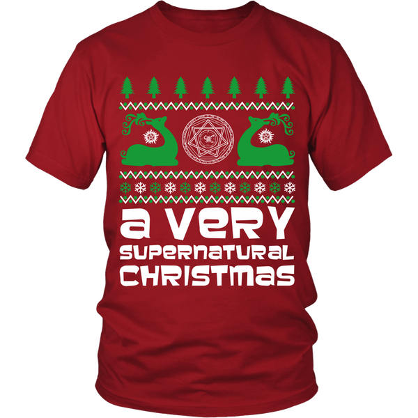 BGA Supernatural UGLY Christmas Sweater - T-shirt - Supernatural-Sickness - 9