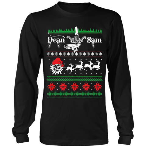 Supernatural UGLY Christmas Sweater - T-shirt - Supernatural-Sickness - 1