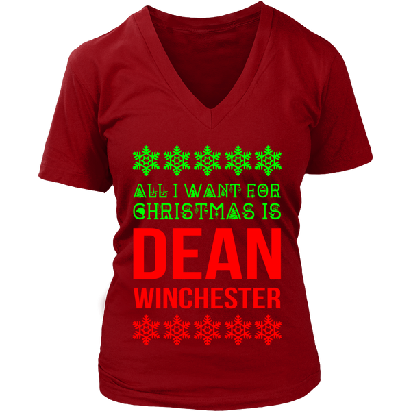 All I Want For Christmas Is Dean Winchester - Tank Top - T-shirt - Supernatural-Sickness - 5