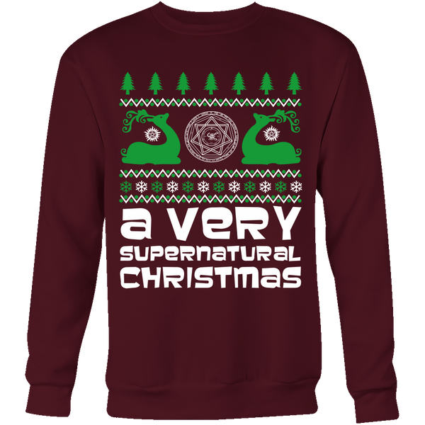 BGA Supernatural UGLY Christmas Sweater - T-shirt - Supernatural-Sickness - 6