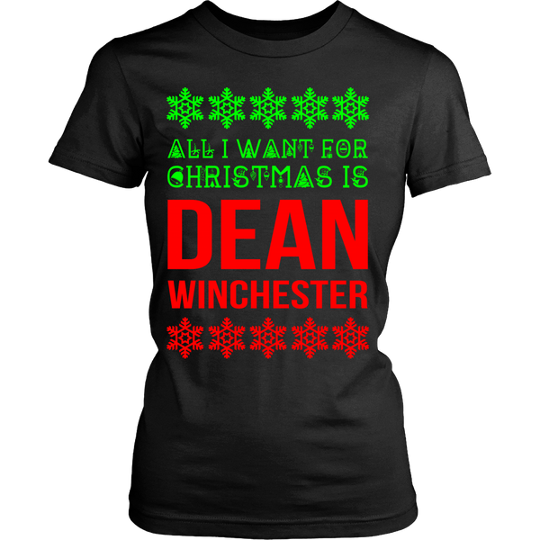 All I Want For Christmas Is Dean Winchester - Tank Top - T-shirt - Supernatural-Sickness - 10