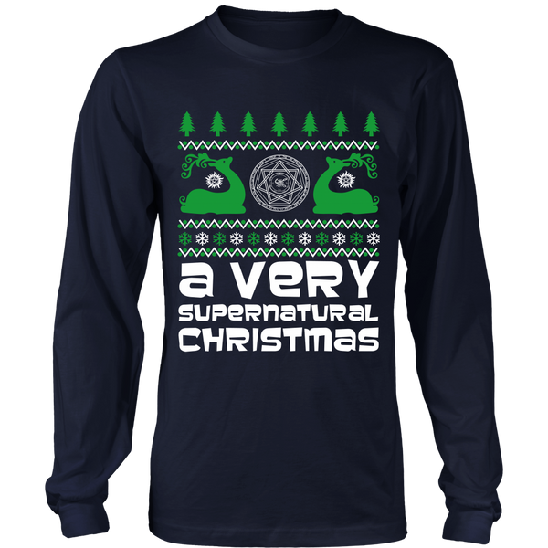 BGA Supernatural UGLY Christmas Sweater - T-shirt - Supernatural-Sickness - 2