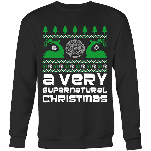 BGA Supernatural UGLY Christmas Sweater - T-shirt - Supernatural-Sickness - 4