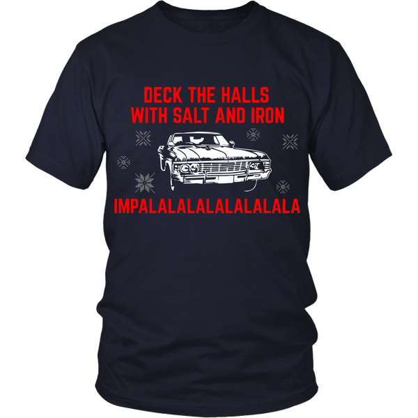 Deck The Halls With Salt and Iron - T-shirt - Supernatural-Sickness - 2
