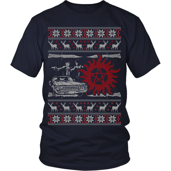 Supernatural UGLY Christmas Sweater - T-shirt - Supernatural-Sickness - 9