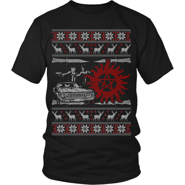 Supernatural UGLY Christmas Sweater - T-shirt - Supernatural-Sickness - 7