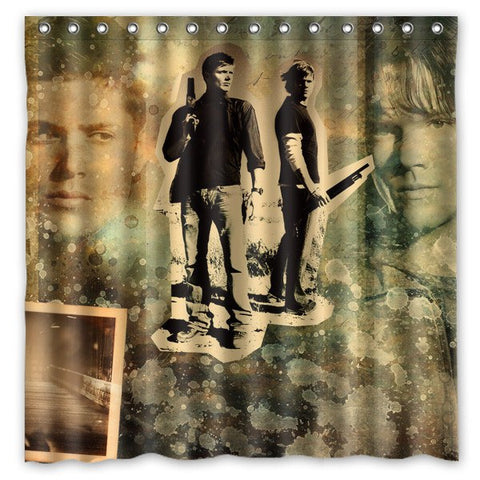 Winchester Bros Shower Curtain - Shower Curtain - Supernatural-Sickness