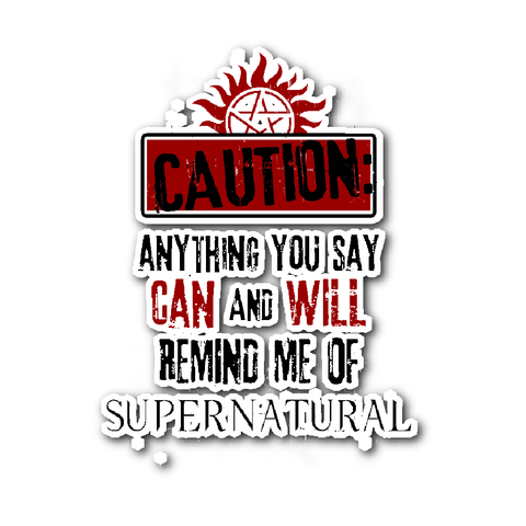 Caution Sticker - Stickers - Supernatural-Sickness