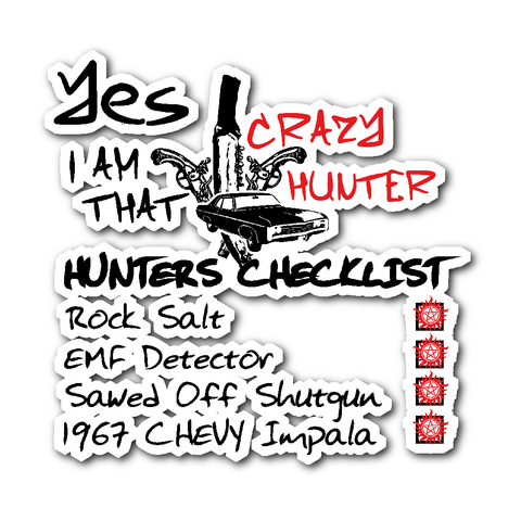 Crazy Hunter - Sticker - Stickers - Supernatural-Sickness