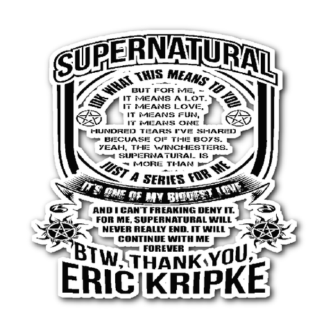 Eric Kripke - Sticker - Stickers - Supernatural-Sickness