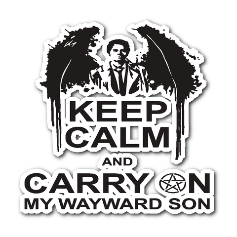 Keep Calm And Carry On My Wayward Son - Sticker - Stickers - Supernatural-Sickness