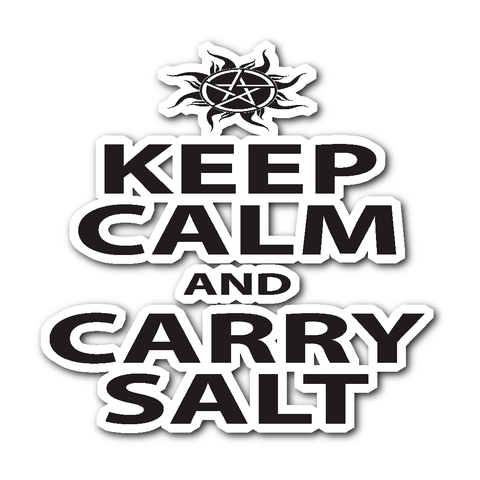 Keep Calm And Carry Salt - Sticker - Stickers - Supernatural-Sickness